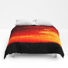 Fiery Sky Comforters