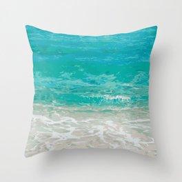 Wave foam design Throw Pillow