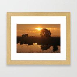 Kiss of the morning Framed Art Print
