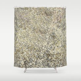 Gold Leaf Crackle Sparkle Shower Curtain