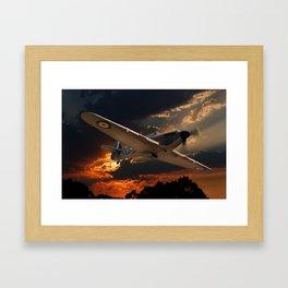 A Fighter Plane Returns Home Framed Art Print
