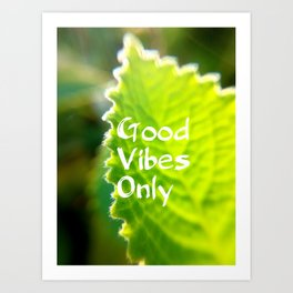 Mexicant Mint - Good Vibes Only Art Print