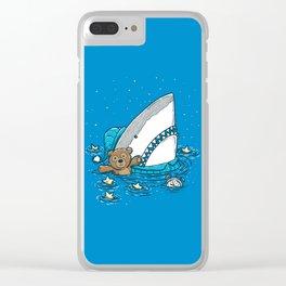 The Sleepy Shark Clear iPhone Case
