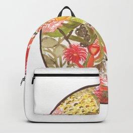 Botanical Watercolor Sphere Backpack