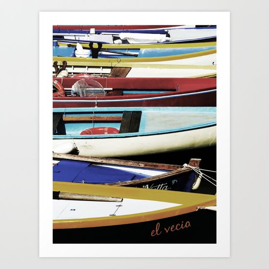 Small Boats 2 Art Print