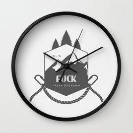 Calloway Sisters - Fuck (Ryke Meadows) Wall Clock