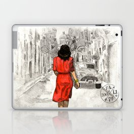 Woman in Red Dress Laptop & iPad Skin