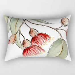 Flowering Australian Gum Rectangular Pillow