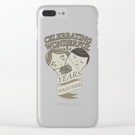 Celebrating Wonderful Years Together Wedding Anniversary Clear iPhone Case