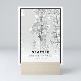 Seattle Modern Map Mini Art Print
