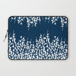 Pussywillow Silhouettes — Midnight Blue Laptop Sleeve