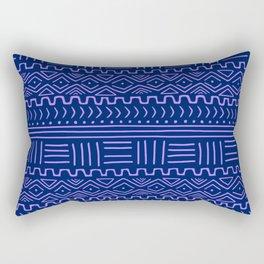 Mud Cloth in Indigo Rectangular Pillow