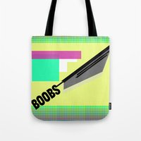 boobs Tote Bags featuring BOOBS !¡!¡! — shapes/design/fun by Mike•Long