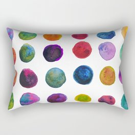 Watercolor Polkadots Rectangular Pillow