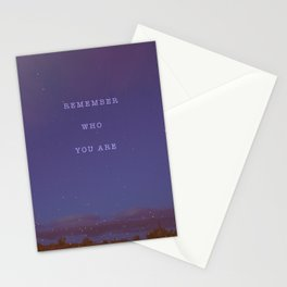 Remember Who You Are - Cosmic Desert Sky Stationery Cards