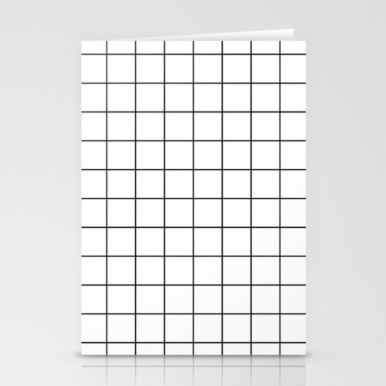 Grid Stripe Lines Black and White Minimalist Geometric by beautifulhomes