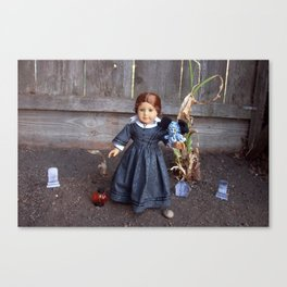 The Girl and Her Pet Sea Monster Canvas Print