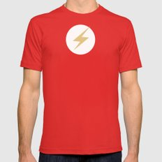 The Flash Vector Logo Mens Fitted Tee SMALL Red