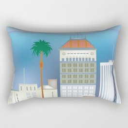 Fresno, California - Skyline Illustration by Loose Petals Rectangular Pillow