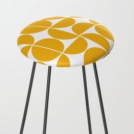 Mid Century Modern Geometric 04 Yellow Counter Stool