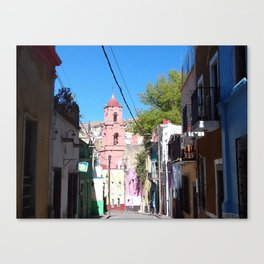 Mexican narrow street Canvas Print