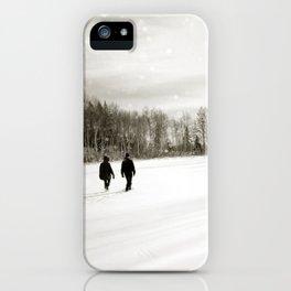 Walking Through Winter iPhone Case