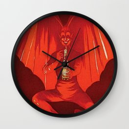 Vintage 1920's Vermouth Torino Cora Alcoholic Beverage Advertisement by Leonetto Cappiello Wall Clock