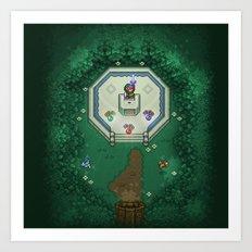 Zelda Mastesword Pixels Art Print