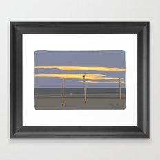 Beach volleyball poles Framed Art Print