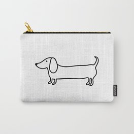 Simple dachshund black drawing Carry-All Pouch