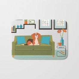 Happy Beagles Make A House A Home Bath Mat