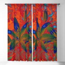 Blue Flowers Blackout Curtain
