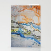 reassurance Stationery Cards featuring Abstract colors 1 by Magdalena Hristova