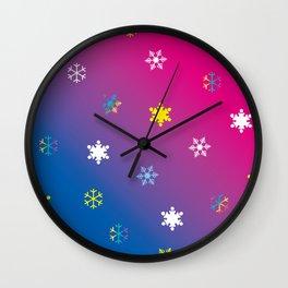Snowflakes_D Wall Clock