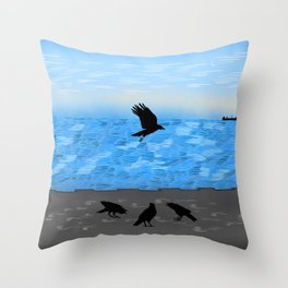 The Crows Throw Pillow