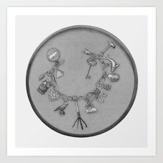 Charm Bracelet with Lock-pick   Art Print