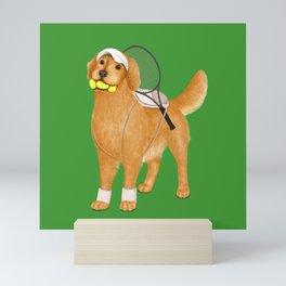 Ready for Tennis Practice (Green) Mini Art Print