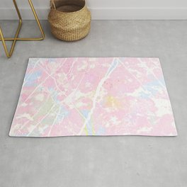 Pastel Candy Pollock marble Rug