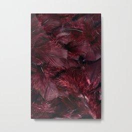 Purple feathers I Metal Print