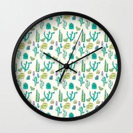 Cacti Critters Wall Clock