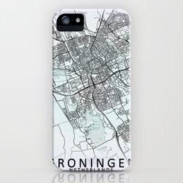 Groningen, Netherlands, White, City, Map iPhone Case