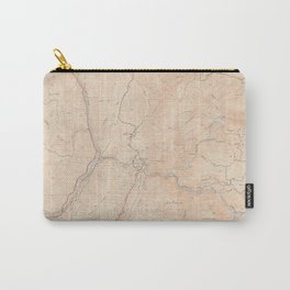 Bidwell Bar, CA from 1950 Vintage Map - High Quality Carry-All Pouch