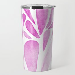 Watercolor artistic drops - pink Travel Mug