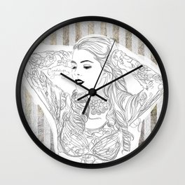 Black and vintage Wall Clock