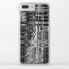 black and white reflections Clear iPhone Case