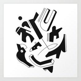 Confined Caos Art Print