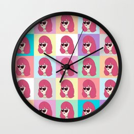 Heart-Shaped Glasses Wall Clock