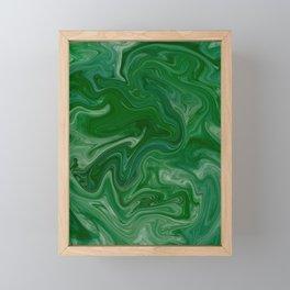 Malachite Marble Framed Mini Art Print
