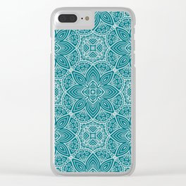 Floral Mandala XIV Clear iPhone Case