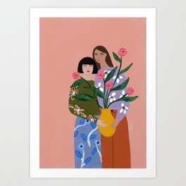 The Friendship Vase Art Print